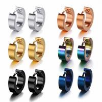 Stainless Steel Small Hoop Earrings Set Clip On Earrings Set for Men Women Huggie Earrings Non-Piercing Manufactures