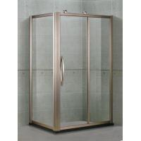 Aluminum Alloy Proflies Glass Shower Screens With Outside Wheels and Rose Golden Handles Manufactures