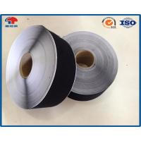 China Black / White Reusable Soft Nylon Hook Loop Thin Tape 150mm Width Sticky Back wholesale
