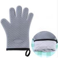 Bakery Silicone Bbq Gloves , Flexible Silicone Rubber Gloves For Grilling Manufactures