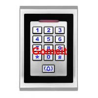 Metal Keypad Standalone RFID Access Control  8000 Users Capacity  80 X 25 X 120mm Manufactures