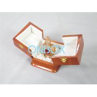 China High Gloss Perfume Packaging Box Recycled Wooden With Metal Lock on sale