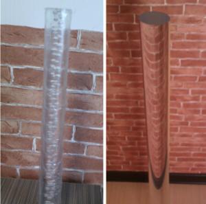 China Acrylic Rod Acrylic Bar Acrylic Bubble Rod Clear Acrylic Rod on sale