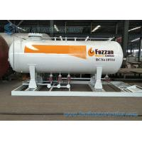10M3 LPG Skid Filling Station 4.2T Lpg Skid Gas Tanker Double Nozzle Dispenser Manufactures