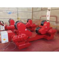 Buy cheap 100 Ton Loading Capacity Self-Aligned Welding Turning Rolls With Rubber Wheel 5.5kw from wholesalers