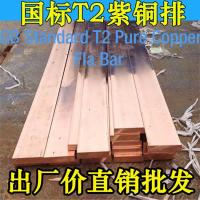 China T2 Brass Red Copper Flat Bar Low Voltage Electrical Distribution Busbar 2~20mm X 20~600mm on sale