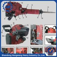 Buy cheap Top quality gasoline demolition hammer with 0.7''x13.78'' chisel from wholesalers