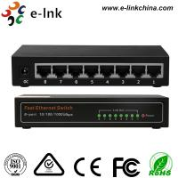 Quality E-link Unmanaged 8 RJ45 Port 10 / 100 / 1000Mbps Auto-Negotiation supporting for sale