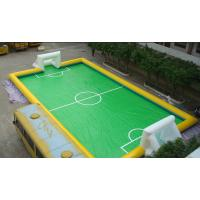 11 Person PVC Inflatable Football Field , Football Game Inflatable Field for Outdoor Sport Manufactures
