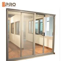 Aluminum Tempered Glass Entry Sliding Door Commercial Customized Size Manufactures