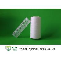 Raw White Polyester Knitting Yarn , 30/1 High Twist Yarn AAA Grade Virgin Bright Manufactures