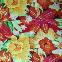 No Pilling Printed Rayon Fabric Breathable Comfortable To Wear 60X62 Density Manufactures