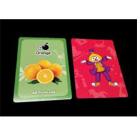 Quality Printed Children Educational Flash Cards , Card Stock Paper Learning Cards for sale