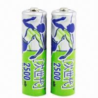 High-energy Cylindrical Ni-MH AA Batteries for Remoter Controller, Toys, CD, DV 1.2V/2,500mAh Manufactures