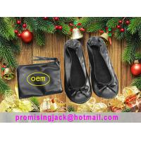 2018 New Christmas Gift China Silver and Black Folding Ballet Slippers in a Purse for Dancing Party Manufactures
