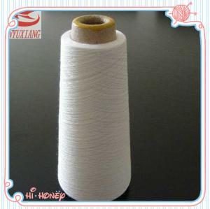 46/1 raw white polyester spun closed virgin yarn instock Manufactures