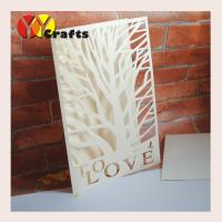 Quality First communion invitation card ivory tree wedding invitation card with love letters for sale