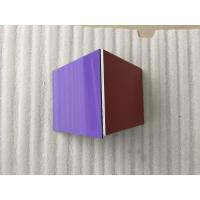 Silver / Purple ACP Aluminium Composite Panel Smooth Surface For Wall Decoration Manufactures