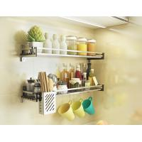 Easy Cleaning Stainless Steel Spice Shelf , Nonstick Wall Hanging Spice Rack Manufactures