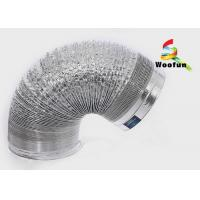 Fire Rated Range Hood Flexible Duct , Customized Dual Layer Aluminum Air Duct Manufactures