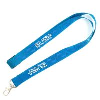 China Classic Blue Lanyard Promotional Products Sublimation Printing Logo With Hook on sale