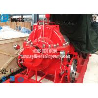 NFPA 20 Standard Fire Fighting Water Pump , Electric Motor Driver Horizontal Split Case Fire Pump Manufactures