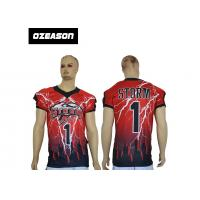 Quality Wholesale 100% Ployester American football training jerseys Sublimation football jersey team numer uniform for sale