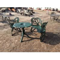Outside Wrought Iron Table And Chairs Antique Green Butterfly Style Manufactures