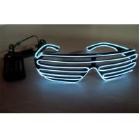 Shutter Shades White Color El Wire Sunglasses Controlled By 2 CR2032 Battery Manufactures