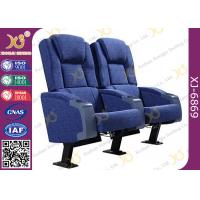 Cold Rolled Steel Leg Cinema Seating Furniture Movie Theater Chair With Soft Cushion Manufactures
