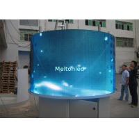 Quality P10  Flexible LED Screen Curved Led Display Transparent Shape With Strip Modules for sale