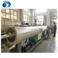 China Twin Screw 20-110mm Pvc Pipe Making Machine PP PE HDPE Tube Extrusion on sale