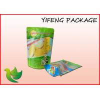 Bottom Gusset Plastic Stand Up Pouch With Zipper Tear Notch Manufactures