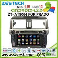 China ZESTECH car dvd player gps for toyota prado gps navigation system with Android 4.2.2 mp3 player on sale