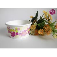 China Customize 6oz  Disposable Ice Cream Cups With Lid , Paper Ice Cream Containers on sale