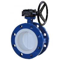 China Lightweight Flange Butterfly Valve With Teflon Disc And Seated Reliable Sealing on sale
