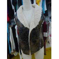 Sleeveless Womens Faux Fur Winter Coats , Comfy Ladies Lightweight Jackets Manufactures