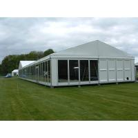 China 20x25m Temporary Construction Steel Structure Warehouse Tent With Sandwich Walls on sale