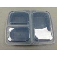 China Plastic type pp fast food box 3-compartment takeaway plastic food container on sale
