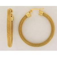 Wholesale 2015 Unique Design Fashion Hoop Earrings with Net Charm Manufactures