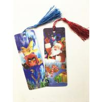 Eco-friendly Lenticular 3D Bookmarks PET Material With Tassel Customized Manufactures