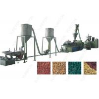 China Conical Twin Screw Plastic Recycling Granulator Machine 220 KW Hot Cutting on sale