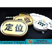 Waterproof Gold Silk Screen Baccarat Markers Oval Shape For Casino Poker Games Manufactures