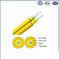 0.9mm Tight Buffer Fiber Optic Cable For Indoor Use Simplex GJFJV Manufactures
