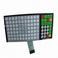 Membrane Keypad Switches, Used in Electronic Scales/Keyboard with 25 to 100mA Contact Current Manufactures