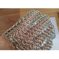 1.2X10MM Fireplace Mesh Curtain , Metal Mesh Curtain Panels For Space Divider Manufactures