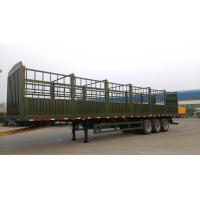 Quality tri axle semi trailer air bag suspension fence trailer for sale for sale