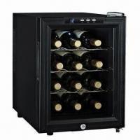China 12-bottle Wine Cooler with Semi-conductor Cooling System and Low Power Consumption on sale