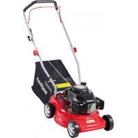 China Red Self Propelled Petrol Lawn Mower / Small Petrol Mower 6 Inch Wheel on sale