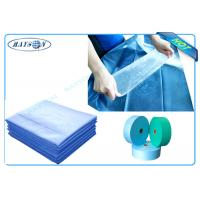 Blue or Green Waterproof PP Non Woven Medical Fabric for Surgical Mask or Disposable Bedsheet Manufactures